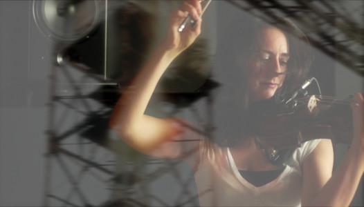 Monica Germino with Crane