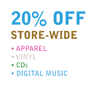 20% off the whole store.